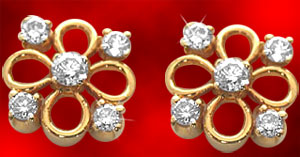 Diamond Earrings-Diamond Petals