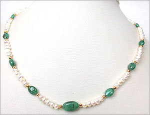 Pearl Emarald Necklace