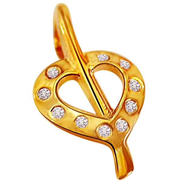Hearty Surprise Diamond Pendant