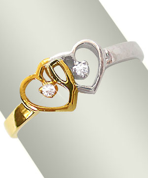 Twin Heart Ring