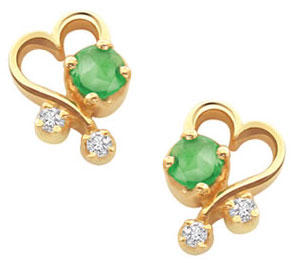 Diamond n Emerald Earrings