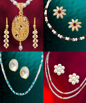 4 Colorful Freshwater Pearl Sets