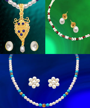 3 Colorful Freshwater Pearl Sets