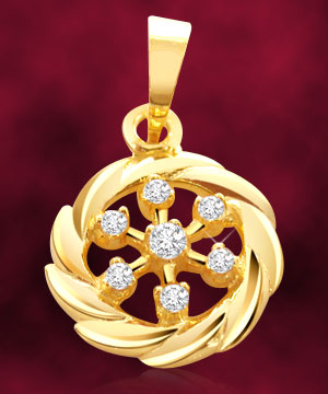Round Shape Diamond Pendant