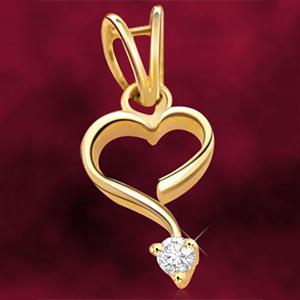 Diamond & Gold Heart Pendant