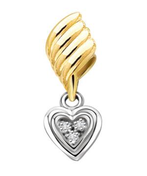 Lovely Heart Shape Diamond Pendant