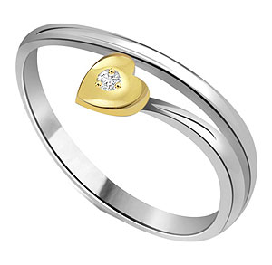 Little Heart Diamond Solitaire Ring