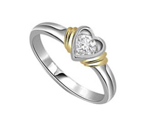 Diamond Heart Shape Ring
