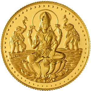 lakshmi gold coin india