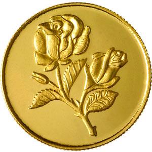 Flower Gold Coin