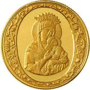 Mother Mary Gold Coin