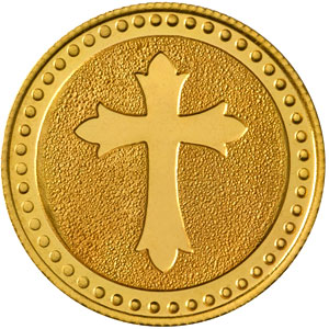 Cross Gold Coin