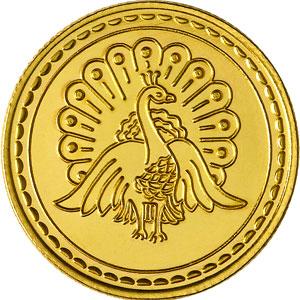 Paecock Gold Coin