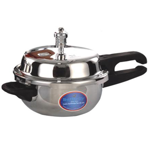 Cookers-Butterfly Stainless Steel Blueline Junior Pressure Pan
