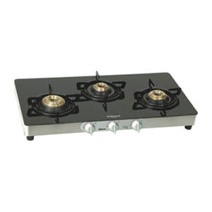 Sunflame Crystal Auto Ignition gas stove - 3 Burners
