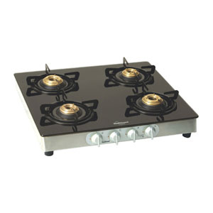 Gas Tops & Cook Tops-Sunflame Crystal gas stove - 4 Burners