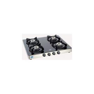 Gas Tops & Cook Tops-Glen 4 Burners Auto Ignition Glass Top Gas Stove