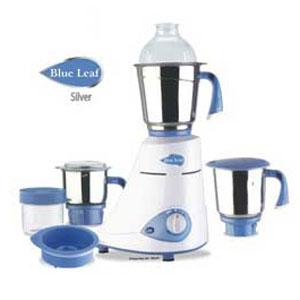 Mixers & Grinders-Preethi Blue Leaf Silver Mixer Grinder - 3 Jars