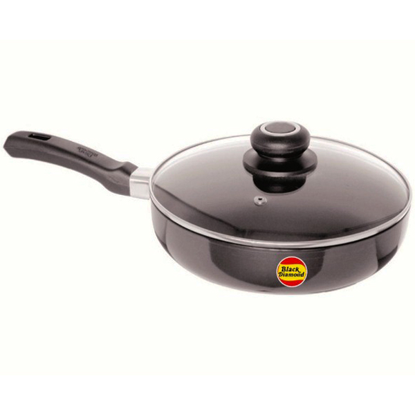 Black Diamond Non-Stick Fry Pan with Glass Lid