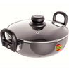 Black Diamond Non-Stick Kadai with Glass Lid