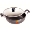 Black Diamond Non-Stick Deep Kadai with Stainless Steel Lid