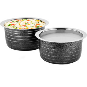 Cookaid Induction Elite Heavy Friendly Patila Set- 2 Pcs BLACK