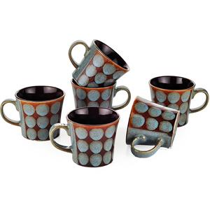 Dorren Crook Circle 6 Pcs Coffee Mugs - Grey