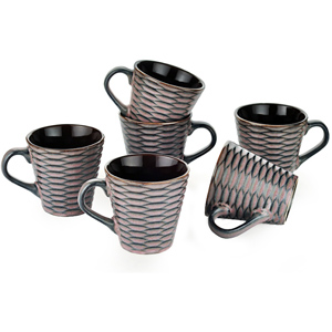 Dorren Crook Studio Tea/Coffee Mugs Set of 6-Purple