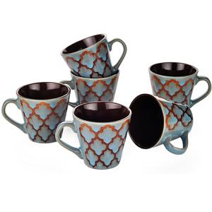 Dorren Crook Studio Tea/Coffee Mugs Set of 6-Blue