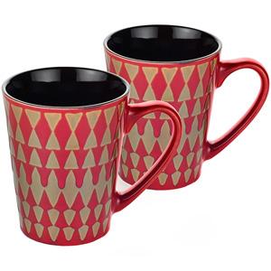 Dorren Crook Studio Designer Mug Set of 2-Red