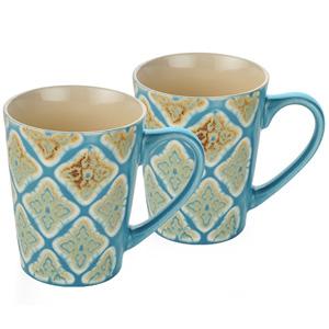 Dorren Crook Studio Designer Mug Set of 2-Sky Blue