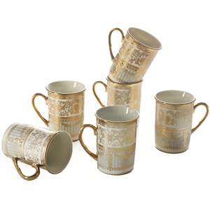 Good Homes Studio Tea/coffee mugs set of 6-Pattern