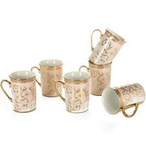 Good Homes Studio Tea/coffee mugs set of 6-Pink