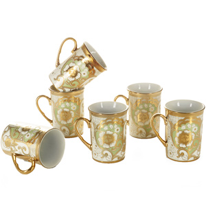 Good Homes Studio Tea/coffee mugs set of 6-Green