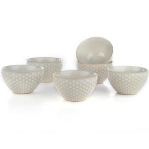 Eudora Embossed Pudding Bowls Set of 6 Round