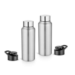 Pexpo Ideale Elegant Chromo Series Water Bottle with Extra Sipper Cap 750 ml Set of 2 Bottles