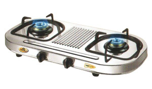 Gas Tops & Cook Tops-Bajaj Auto Ignition 2 Burners gas stove - CiX12D