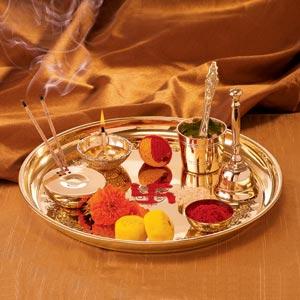 Borosil Brass Pooja Thaali