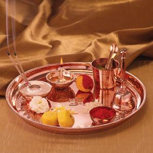 Borosil Copper Pooja Thaali