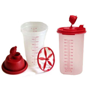 Tupperware Quick Shake and Midi Magic Flow Set