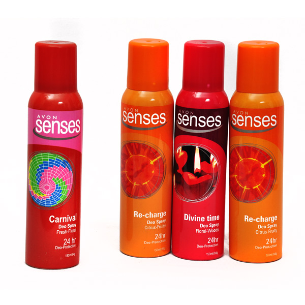 Avon Senses Body Spray - Set of 3