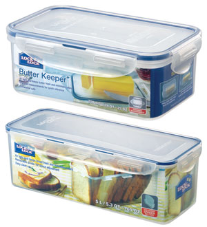 Lock & Lock Classics Butter and Bread Containers