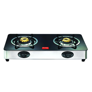Gas Tops & Cook Tops-Prestige 2 Burners Duplex Glass Top - GT 02 SS