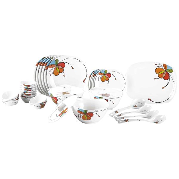 Borosil 35 pieces Vibgyor Melamine Dinner Set