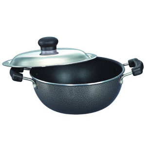 Prestige Omega Select Plus Flat Base Kadai with S. S. Lid