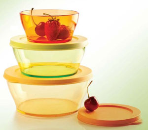 Tupperware Clear Bowl Set - Set of 3