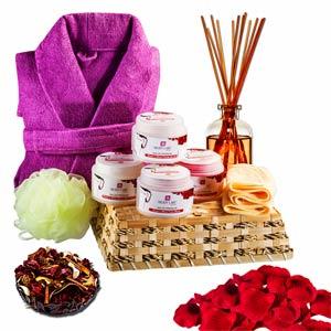 Beauty & Spa Hampers-Rose & Wine Gentle Facial Spa Hamper
