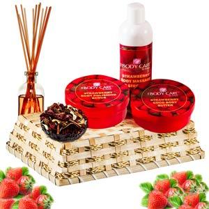 Beauty & Spa Hampers-Luxury of Strawberries Gift Basket