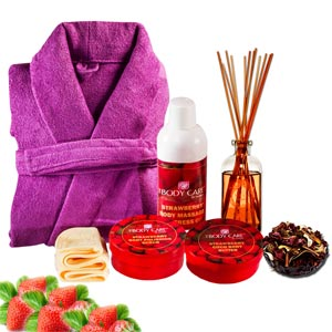 Beauty & Spa Hampers-Luxury of Strawberries Gift Basket