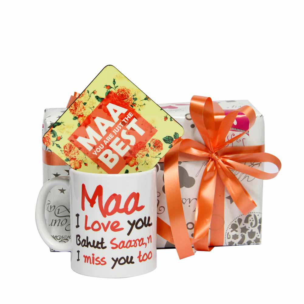 Mug with Maa Best Coaster
